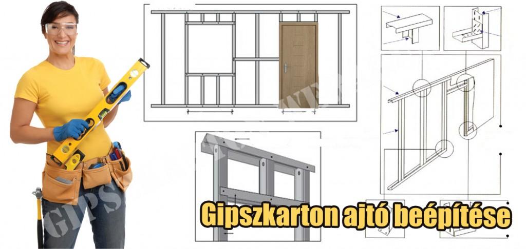 gipszkarton ajtó beépítése