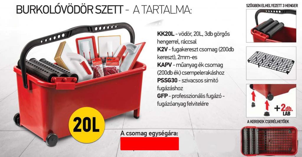 beorol-burkoló-vödör-szett-20L