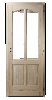 4-kazettás-üveghelyes-fenyő-beltéri-ajtó