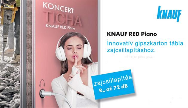 knauf-red-piano-zajcsillapítás-szigatech