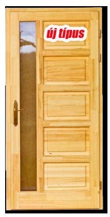 HAMBURG fenyő bejárati ajtó új típus