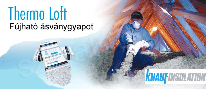 Thermo Loft fújható ásványgyapot szigetelés