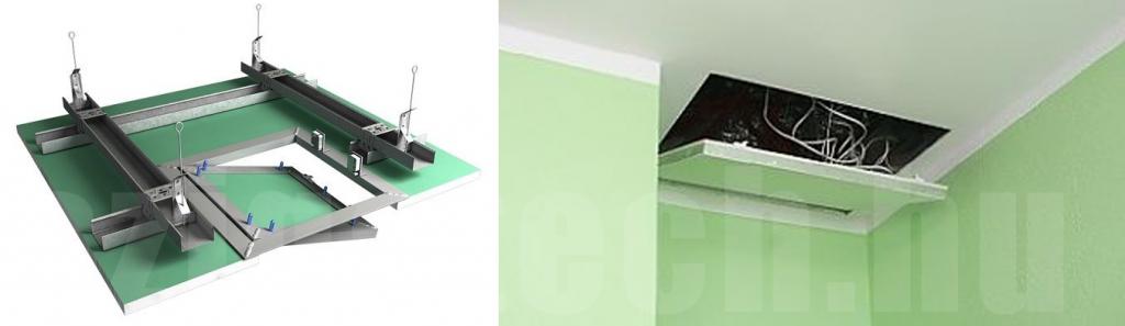gipszkarton-betétes-revíziós-ajtó-bépítése-mennyezetbe-szigatech