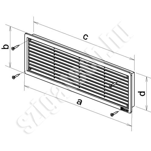 haco-ajtó-szellőzőrács-szúnyoghálós-rajz