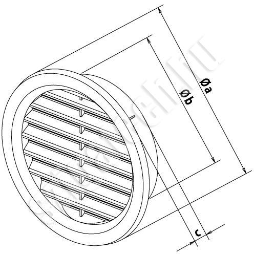 haco-szellőzőrács-kerek-szúnyoghálós-rajz