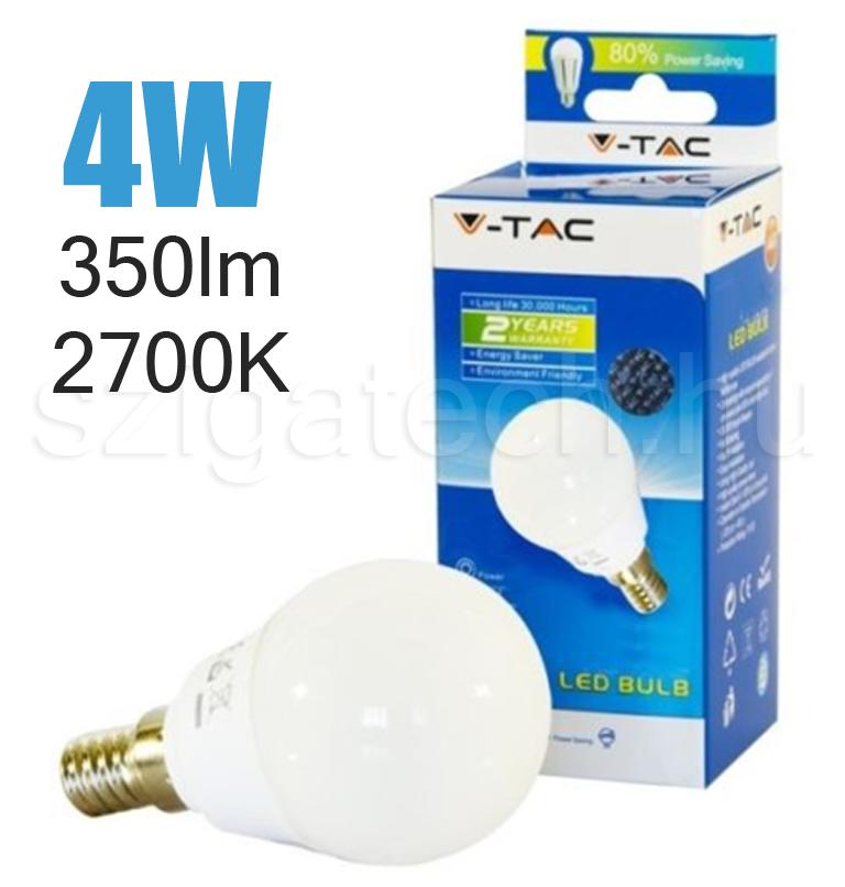led-lampa-e14-kisgömb-2700k-4w