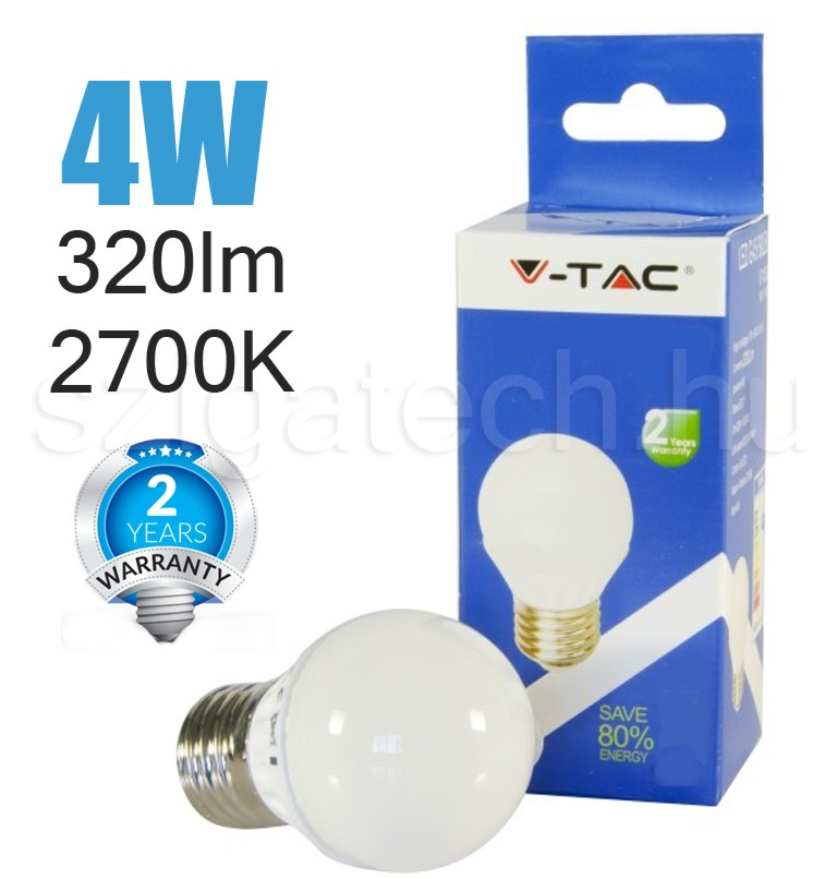 led-lampa-e27-kisgömb-2700k-4w