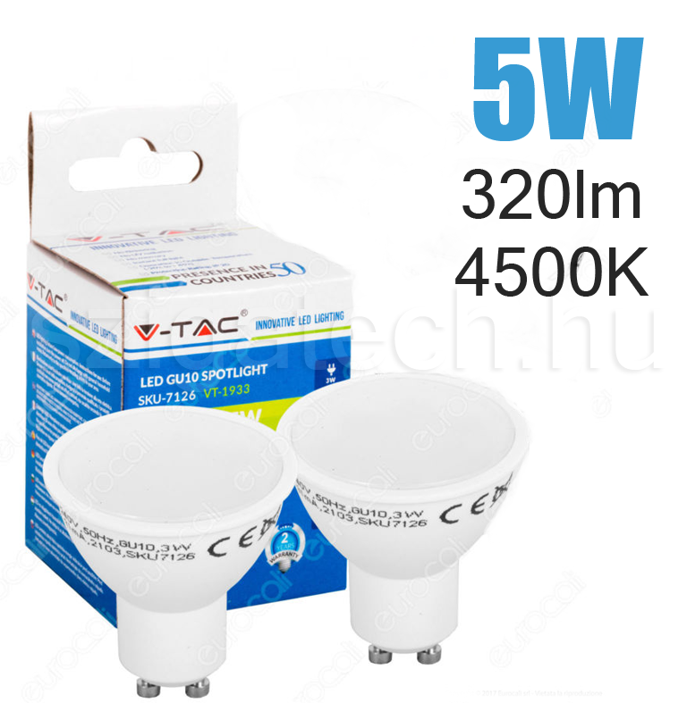 led-lampa-gu10-spot-4500k-5w