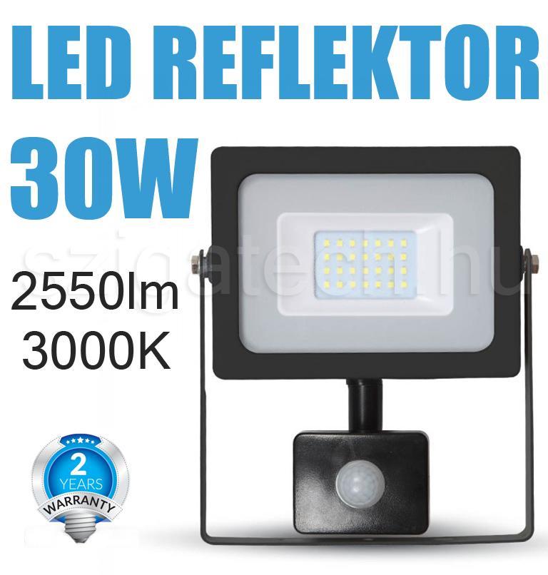 led-reflektor-mozgásérzékelős-smd-slim-3000k-30w