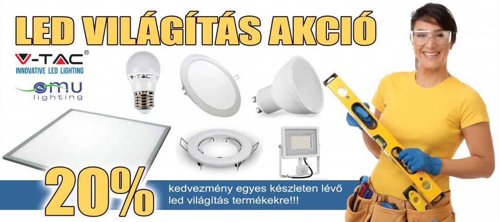 led világítás akció